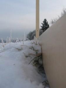 der Kubus endlich im Schnee