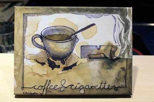 coffee & cigarettes  18 x 24 cm