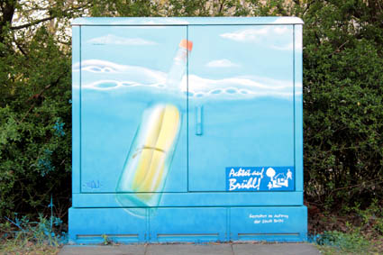 die Flaschenpost das Badewannenmotiv vom 5.Feb.